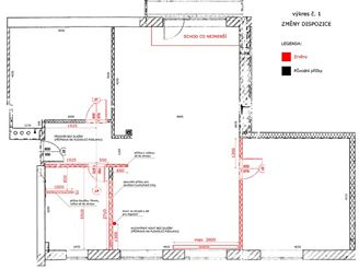 Plán bytu po rekonstrukci