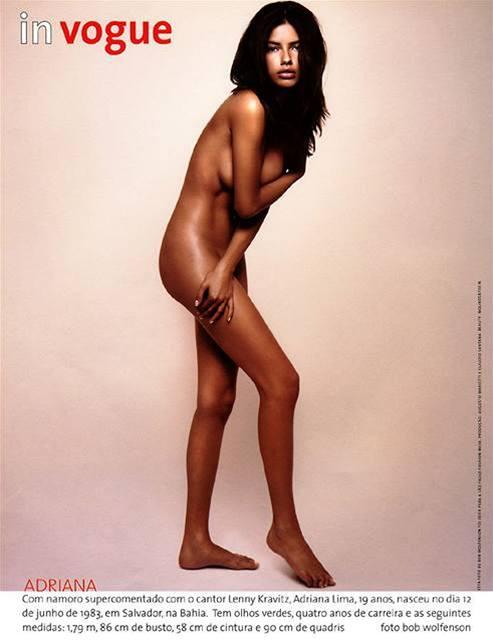 Adriana Lima pózuje pro Vogue Brazil