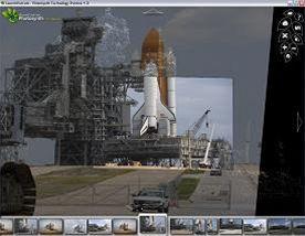 Stánka s 3D snímky NASA