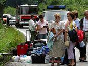 nehoda rakouského autobusu u Rožmberku