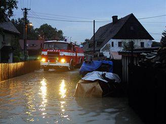 Zaplavená obec Višňová