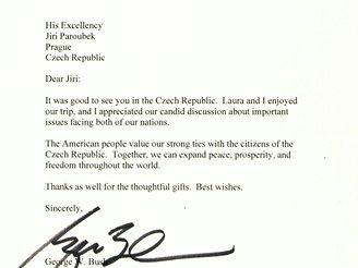 Bushův dopis Paroubkovi