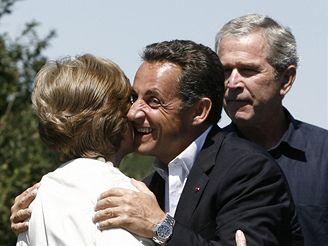 Sarkozy na návštěvě v Kennebunkportu
