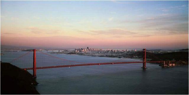 Golden Gate, San Francisco, západ slunce