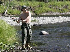 Vladimir Putin s Albertem II. na Sibiři