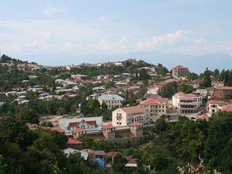 Městečko Signagi na východě Gruzie