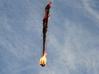 Hořící balón v Kanadě