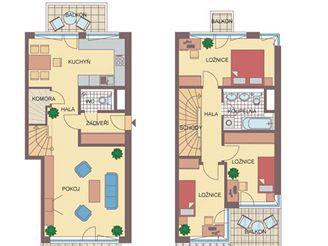 Plánek bytu pro třetího VyVoleného