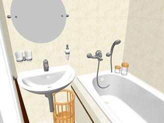 Rekonstrukce koupelny - první varianta s vanou