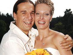 novomanželé Kristina Kloubková a Alan Bastien