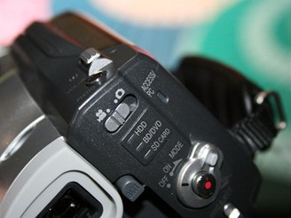 Hitachi BluRay kamera - detail zezadu