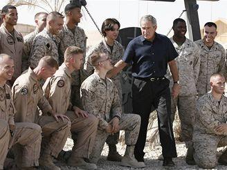 Bush na návštěvě Iráku