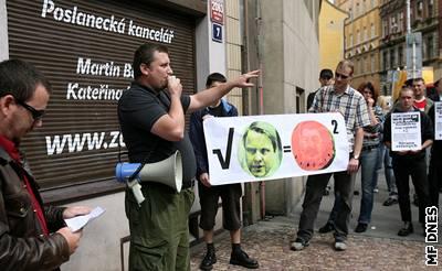 Demonstrace neonacist� v Praze.