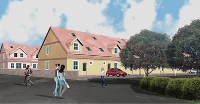 Řadové domy - Lešany u Nelahozevsi - vizualizace