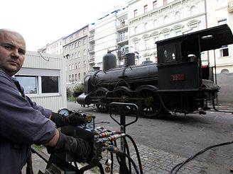 Transport parní lokomotivy z Národního technického muzea, 17. 9. 2007