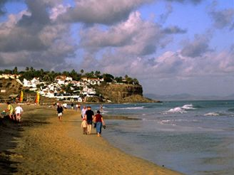 Playa de Jandía, Fuerteventura - Kanárské ostrovy