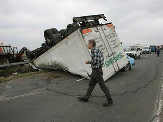 nehoda na silnici z Olomouce na Mohelnici (18.9.2007)