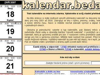 Kalendář.beda.cz