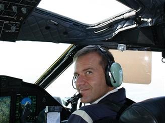 C27J - pilot během letu
