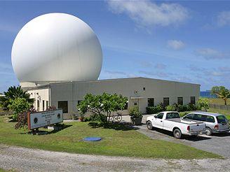 Pozemní radar v Kwajaleinu na Marshallových ostrovech GBR-P