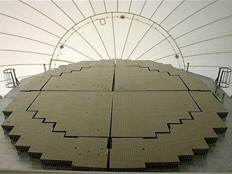 Uvnitř pozemního radaru v Kwajaleinu na Marshallových ostrovech GBR-P