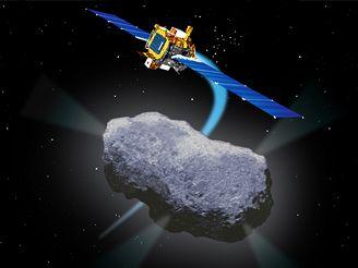Deep Space 1 u komety Borrelly (kresba)