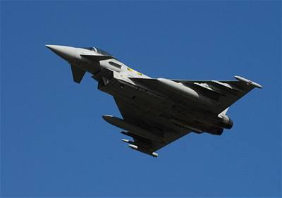 Eurofigther Typhoon britského Královského letectva.