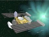 sonda Stardust (nyní již bez pouzdra vlevo)