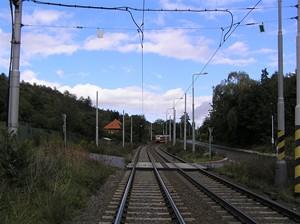 Úsek mezi zastávkami Trojská a Nad Trojou