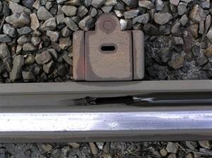 Detail odvodnění žlábkové koleje