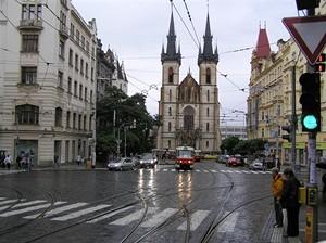 Velká tramvajová hvězda Strossmayerovo nám.