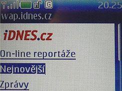 Zpravodajství iDNES na telefonech Nokia