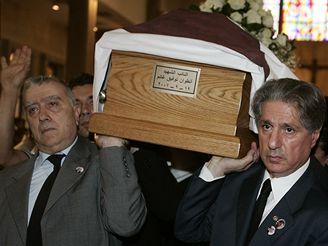 Pohřeb libanonského provládního poslance Antoina Ghaníma