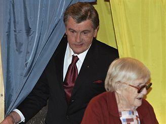 Parlamentní volby na Ukrajině - prezident Viktor Juščenko