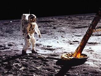 Aldrin u lunárního modulu