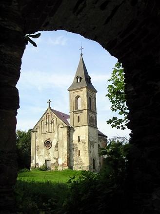 Opuštěný poutní kostel na Krasíkově (Švamberku)