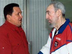 Hugo Chávez a Fidel Castro