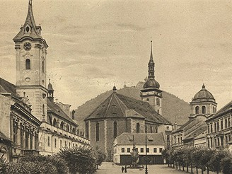 Most, II.náměstí, kolem roku 1900