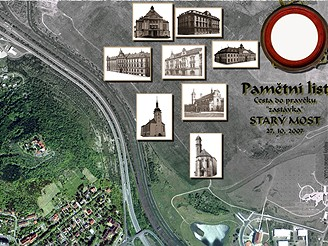 Pamětní list Starý Most 27.10.2007