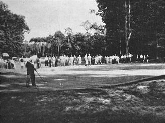 Klánovice, golfové hřiště, green 5, 1938