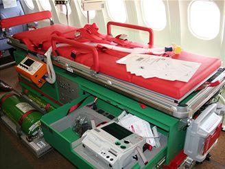 PTU lůžko v pohotovostním režimu v Airbusu A-319CJ
