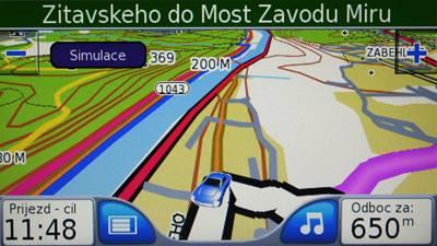 Garmin Nüvi 660FM - displeje