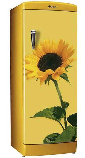 Barevné spotřebiče - lednička Ardo Slunečnice