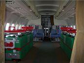 Lůžka pro pacienta v Airbusu A-319CJ ve verzi medevac