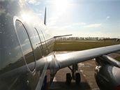 Levý bok Airbusu A-319CJ