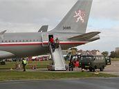 Levý zadní vchod Airbusu A-319CJ