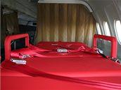 Povrch PTU lůžka v Airbusu A-319CJ