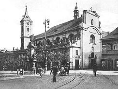 Most, Minoritský kostel 30.léta 20.století