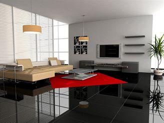 pokoj, podlaha, obývák