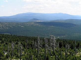Pohled z Jizery, 2.nejvyšší hory Jizerek